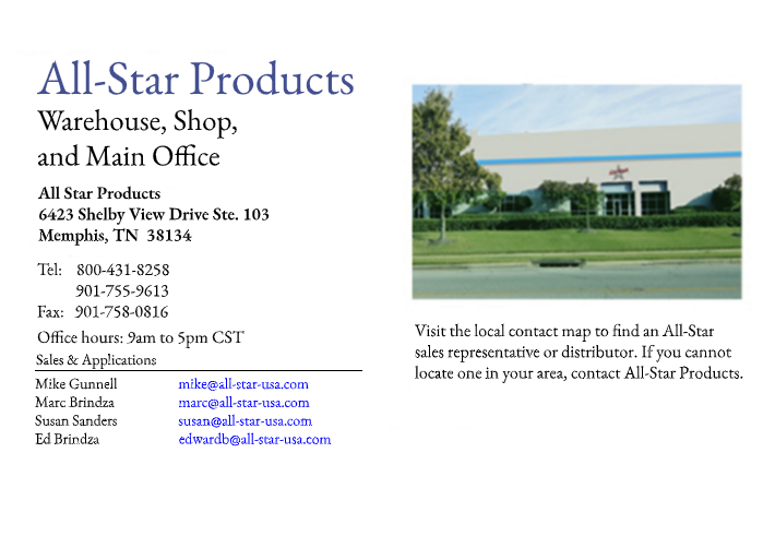 All Star Products, Inc. Contact Information