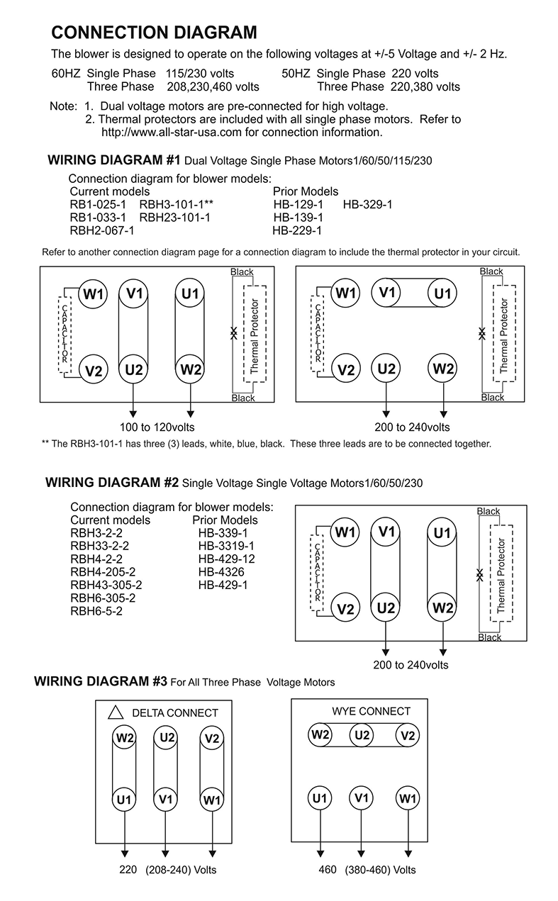 Regenerative Blower Wiring Connection Diagram